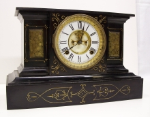 Black Iron Mantel Clock