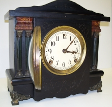 Black Wood Mantel Clock