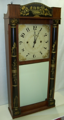 Bronzed Looking Glass Clock.