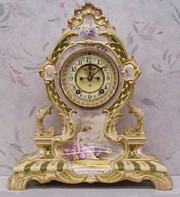 outside escapement porcelain clock