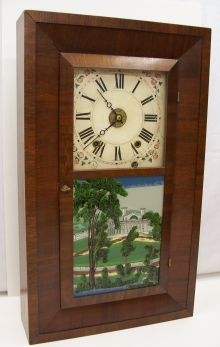 Flat OG 30 Hour Wooden Works Mantel Clock front.