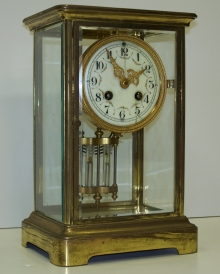 French Crystal Regulator Clock.