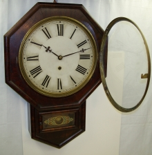 Time Only School House Wall Clock